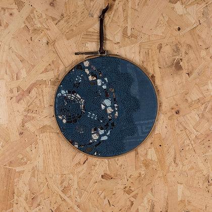 blue doily offset hoop