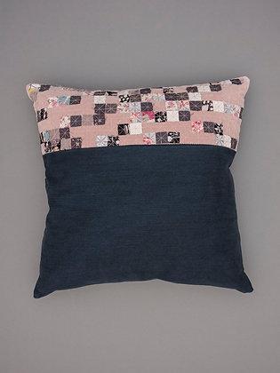 blush velvet five stripe large square