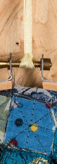 mixed check hoop detail