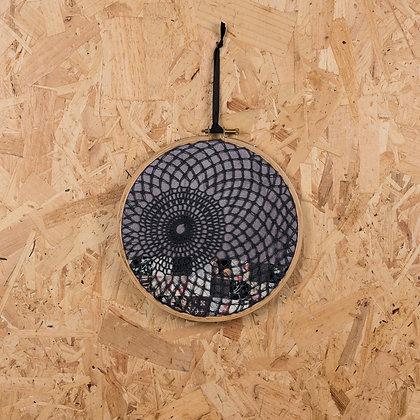 charcoal crochet half hoop