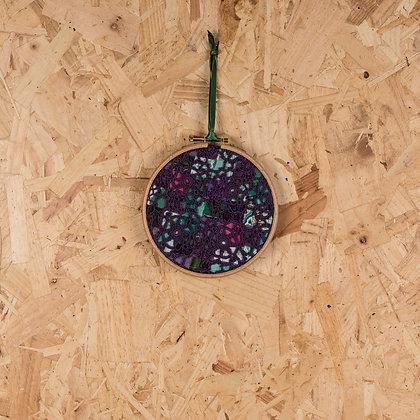 Purple crochet hoop