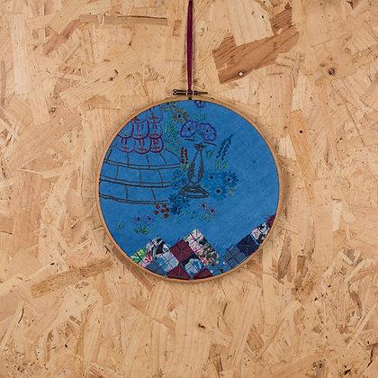 crinoline lady blue hoop