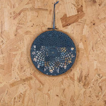 blue doily hoop