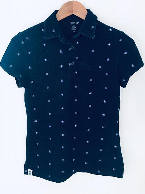 Camisa Azul/Flores