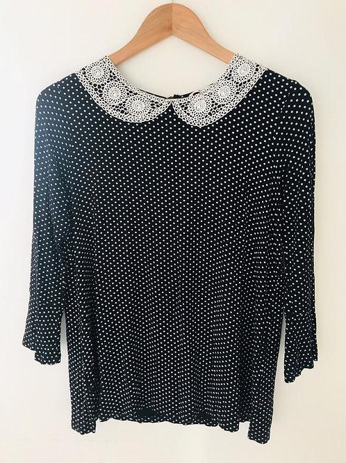 Camisa Negra/Beige