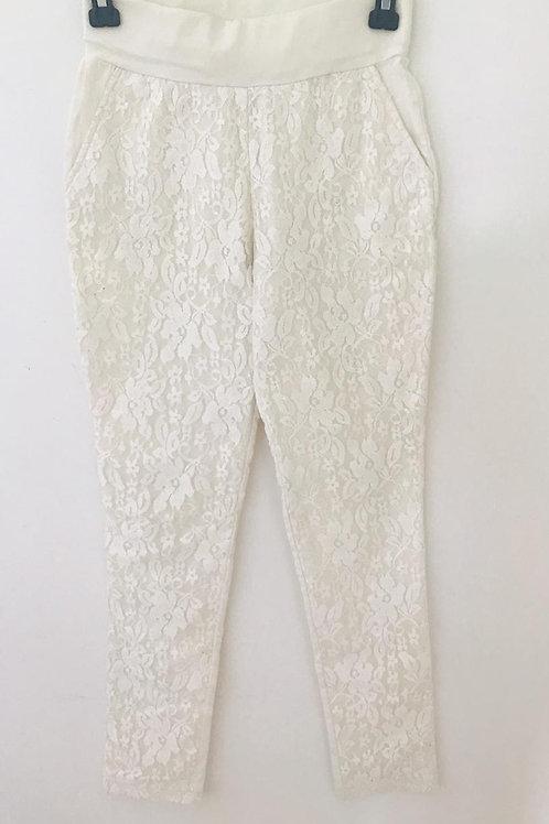 Pantalón Blanco Mujer Blonda