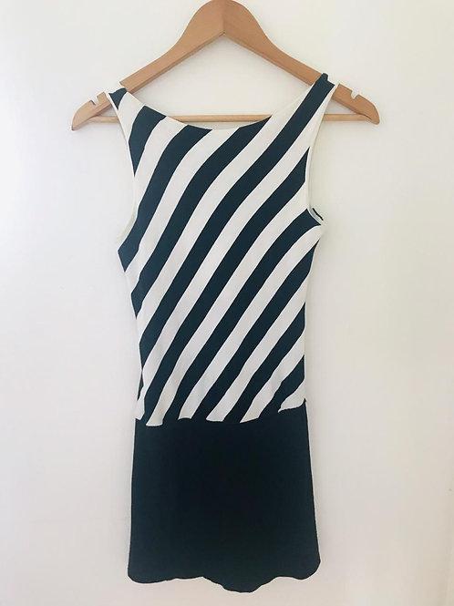 Vestido Rayas Blanco/Negro