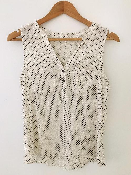 Camisa Beige/puntos negros