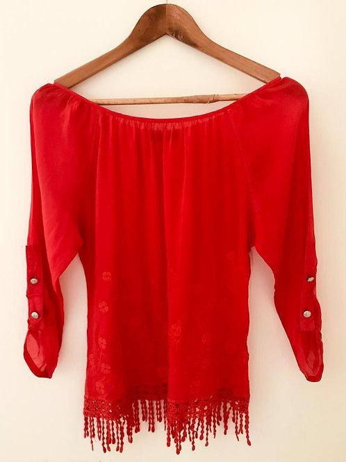 Camisa Roja/Manga Larga
