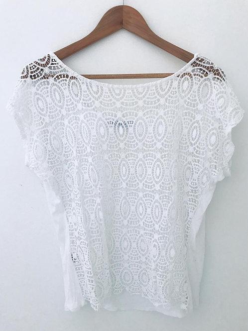 Camiseta Blanca Bordada