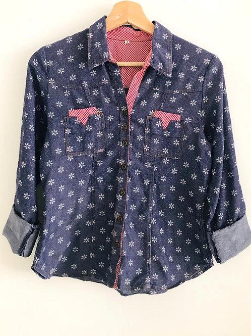 Camisa Niña Jean Estampada