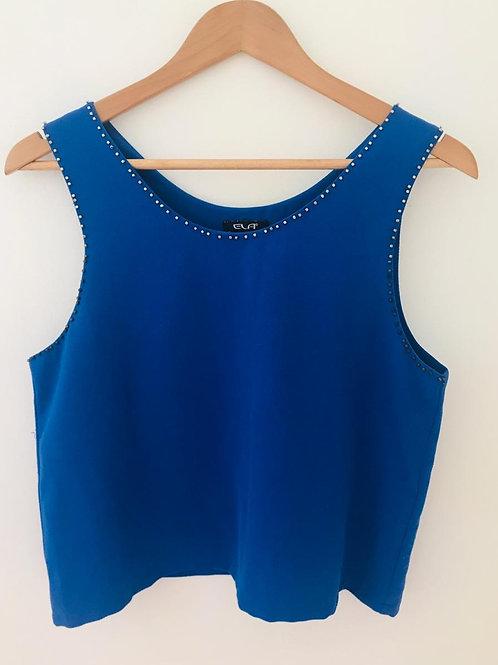 Camisa Azul Rey corta