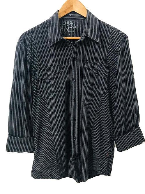 Camisa Hombre Negra/Rayas