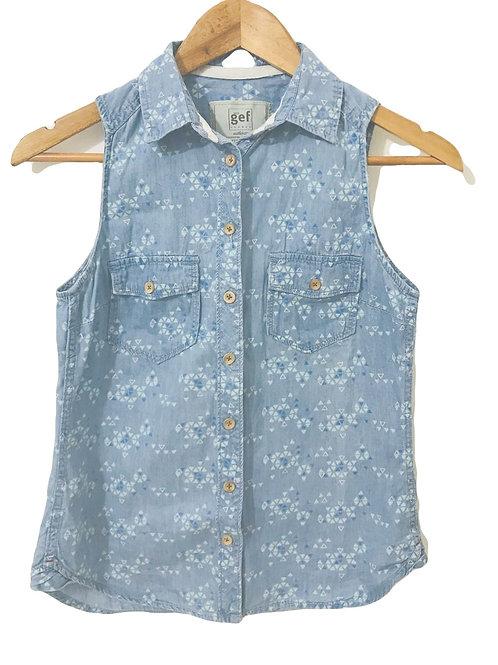 Camisa Celeste /Estampada