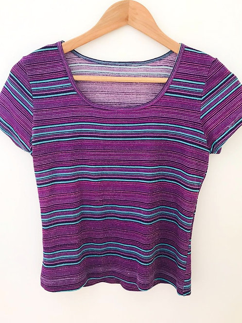 Camiseta Rayas/Brillante