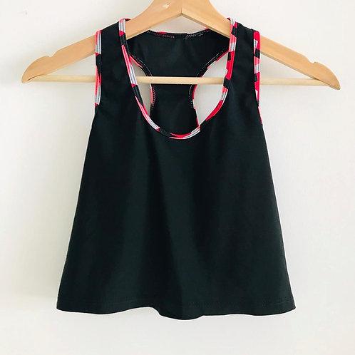 Camisa Corta Deporte/Negra