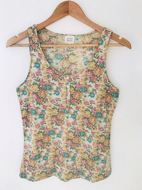 Camiseta Beige/Flores