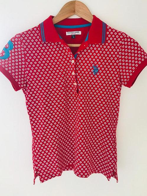 Camiseta Roja/Blanco