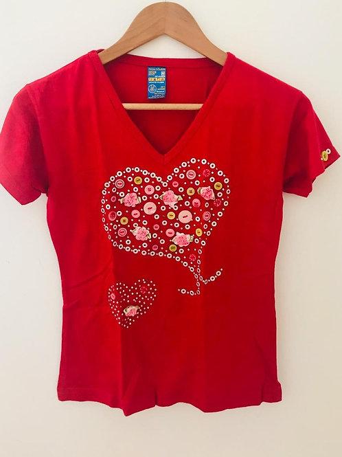Camiseta Roja/Apliques