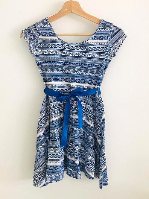 Vestido Azul/Blanco niña