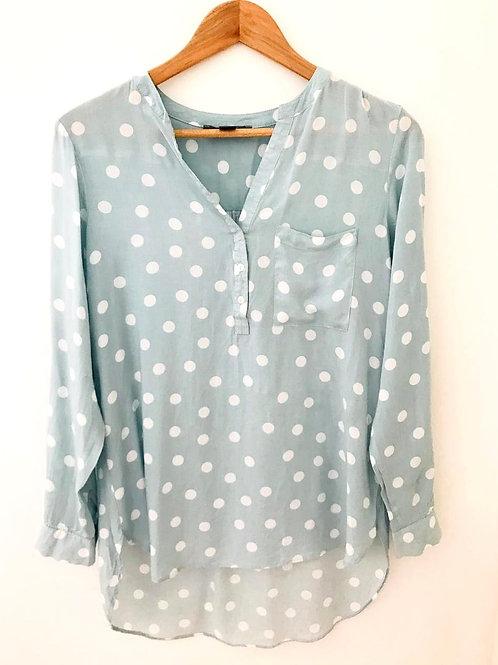Camisa Verde Manzana/Blanco
