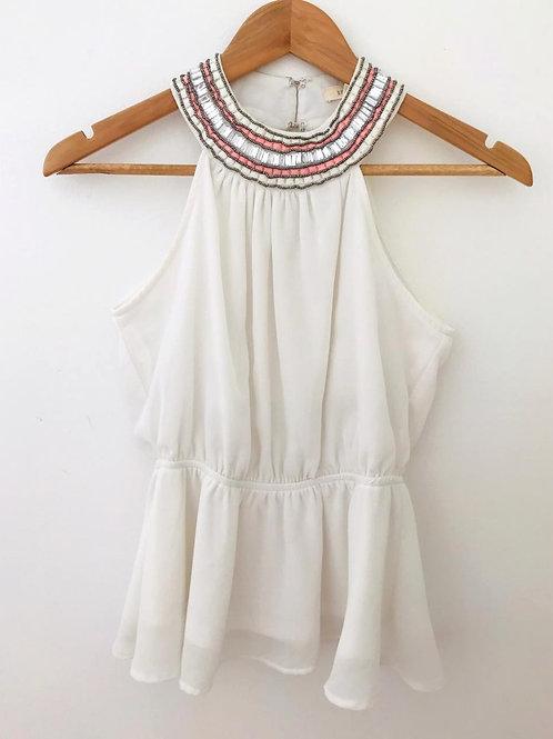 Camisa Beige/Apliques