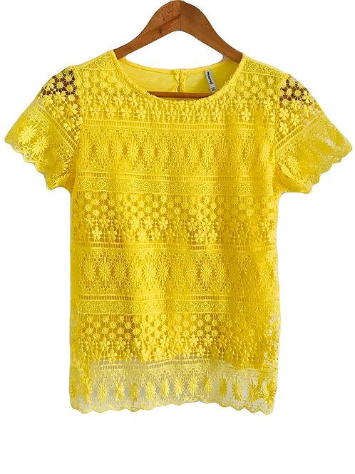 Camisa Bordada Amarillo