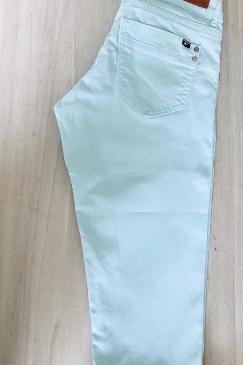 Pantalón Mujer Capri menta