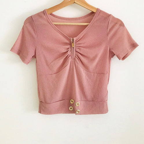 Camisa Rosa Brillo