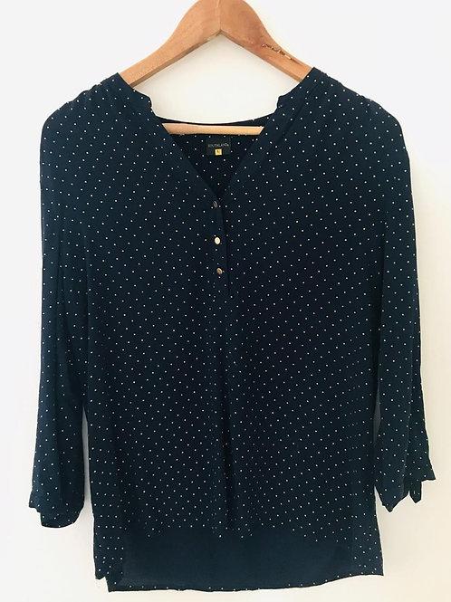 Camisa Azul/Puntos Dorados