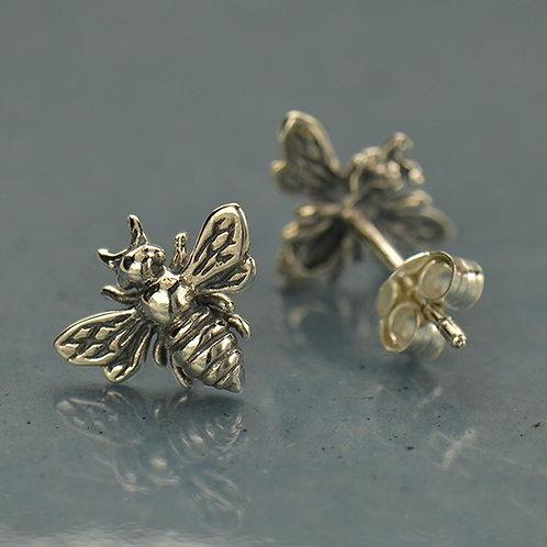 Sterling Silver Honeybee Earing Studs
