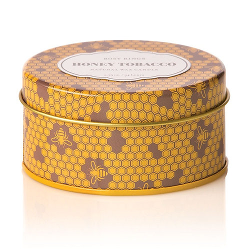 Honey Tobacco Candle in Travel Tin