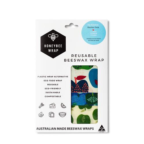 The Kitchen Starter Honeybee Wrap - Pack of 3