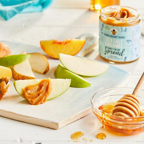 Sea Salt Caramel Honey Cream Spread - 8OZ