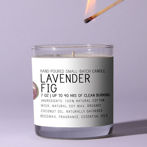 Lavender Fig Beeswax Candle