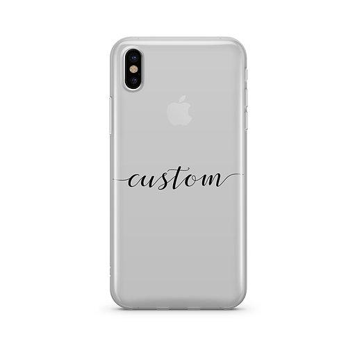 Custom Name iPhone & Samsung Clear Phone Case Cover