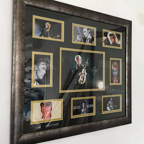 David Bowie Signed Montage