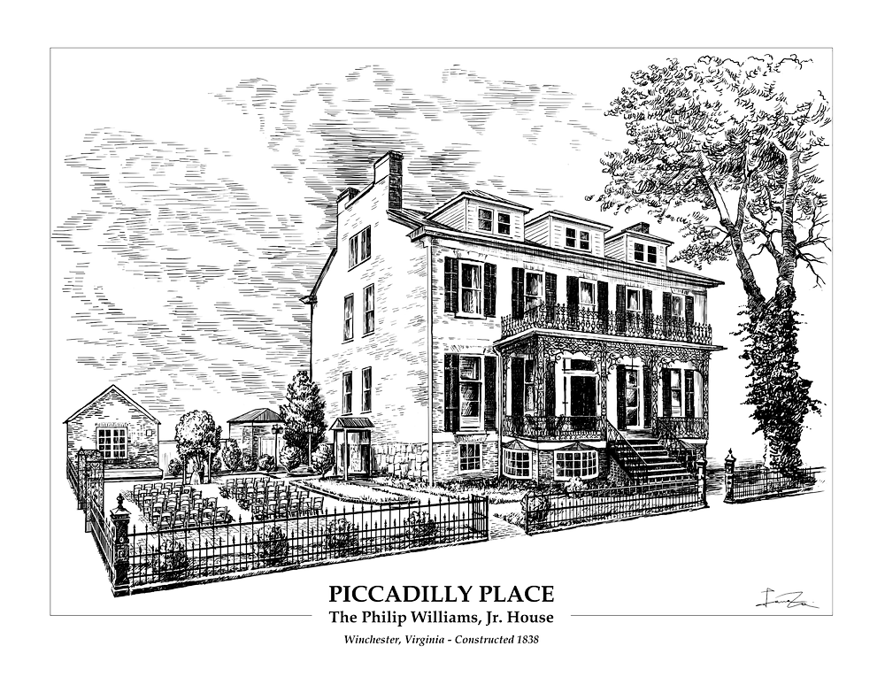 Scetch of Piccadilly Place, The Pilip Williams Jr House