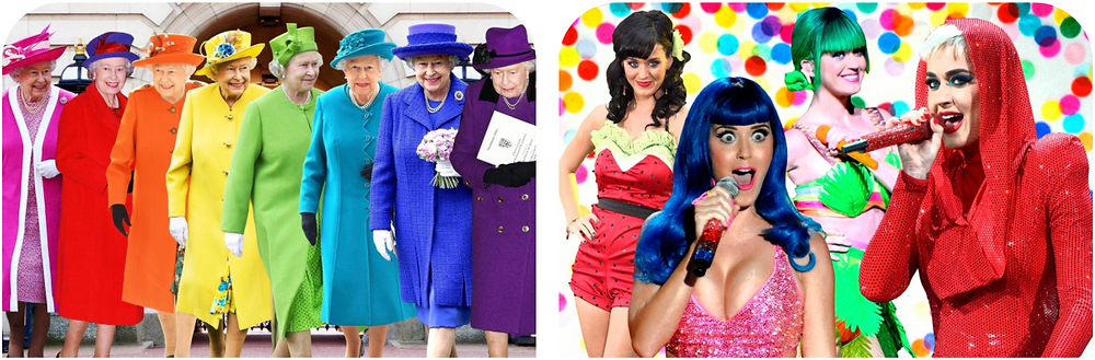 The Queen o England and Katy Perry help you stick to your brand guide