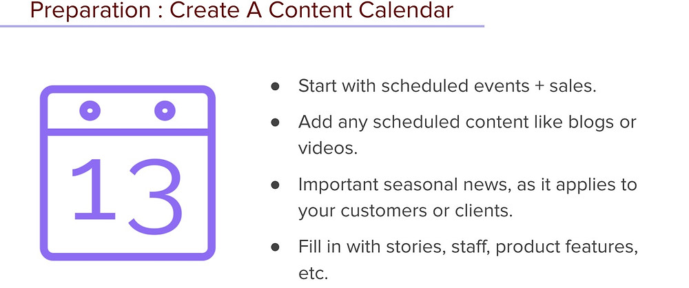 How to create a content calendar and batch your marketing social media and email channels