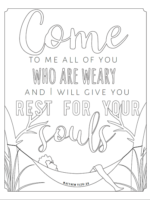 Rest for Your Souls Coloring Page