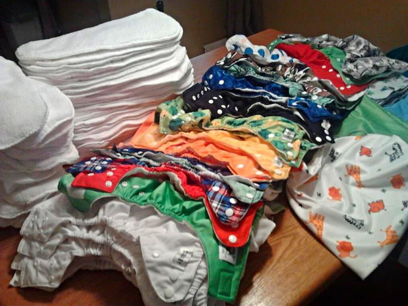 cloth diaper stash