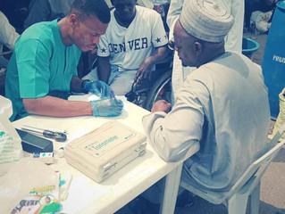 LabakCare on ground clinic at Oko Baba Destitute Center in Ebute-meta, Lagos, Nigeria on 3/3/2019
