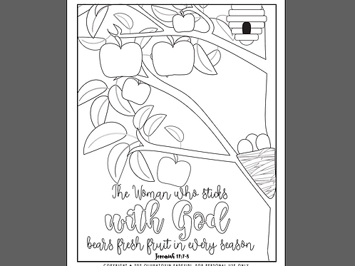 The woman who sticks with God coloring page