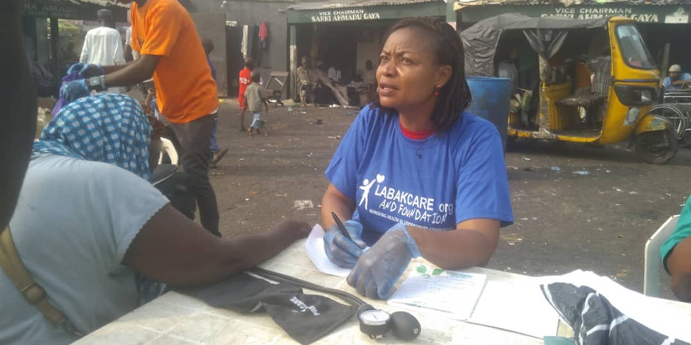 Clinic at the Okobaba destitute center, Lagos
