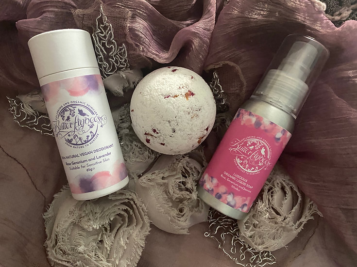 Rose Bath Bomb Small Gift Set