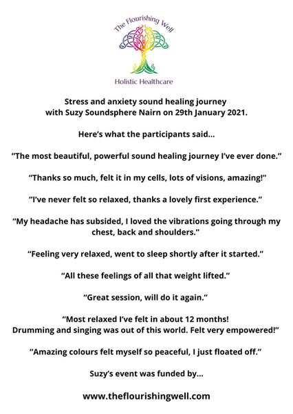 Suzy Nairn Soundsphere Sound Healing Fee