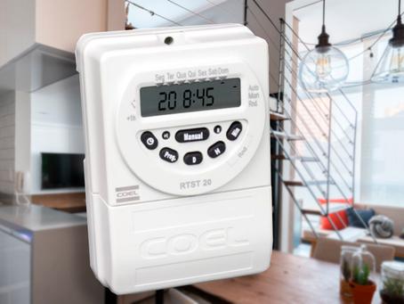 Programador de  horário: economia de energia e comodidade