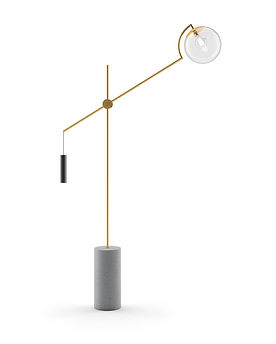 Luminaria de Chao Howlin Ouro Libra - R$