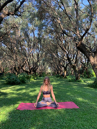 Yoga under the olive trees